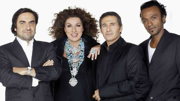 """André Manoukian, Marianne James, Dove Attia et Manu Katché formait un jury emblématique de """"Nouvelle Star"""""""