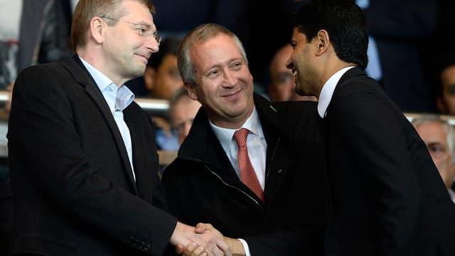 Dmitri Rybolovlev, Vadim Vasilyev et Nasser Al-Khelaïfi