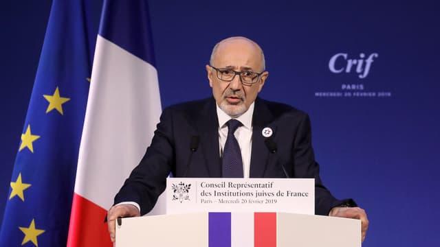 Le président du CRIF, Francis Kalifat, le 2 janvier 2019.