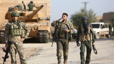 Soldats Truques sur le front syrien, octobre 2019