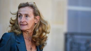 Nicole Belloubet, dans la cour de l'Elysée le 10 octobre 2018