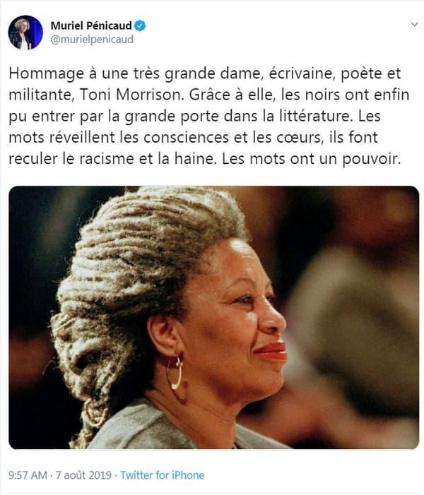 Mort de Toni Morrison: l'hommage polémique de Muriel Pénicaud