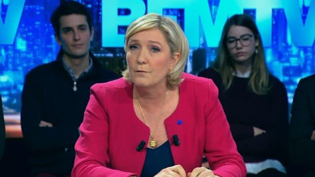 Marine Le Pen, présidente du Front national, invitée de BFM Politique le 5 mars 2017.