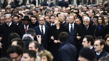 Une impressionnante et inédite délégation internationale a participé à la marche républicaine, ce dimanche, en hommage aux 17 victimes des attentats des derniers jours en France.
