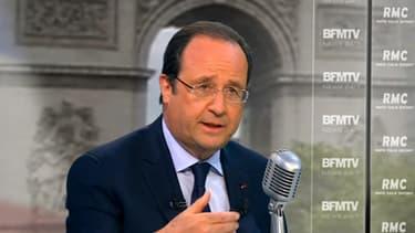 Hollande envisage un report des élections régionales en 2016. Ici, le 6 mai, sur BFMTV