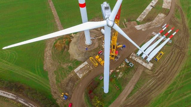 Le constructeur danois LM Wind Power va fabriquer ses pales d'éoliennes à Cherbourg. (image d'illustration)