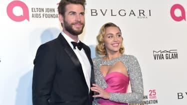 Liam Hemsworth et Miley Cyrus en mars 2018