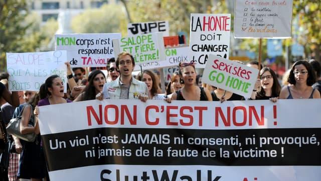Une manifestation contre le sexisme à Aix-en-Provence en 2012 (image d'illustration)