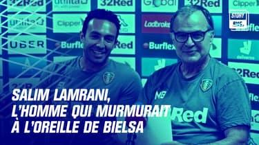 Salim Lamrani (à gauche) et Marceo Bielsa lors d'une conférence de presse à Leeds