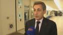 Nicolas Sarkozy depuis le siège des Républicains lundi 14 septembre.