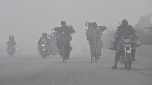 Épisode de pollution le 21 novembre 2019 à Lahore au Pakistan