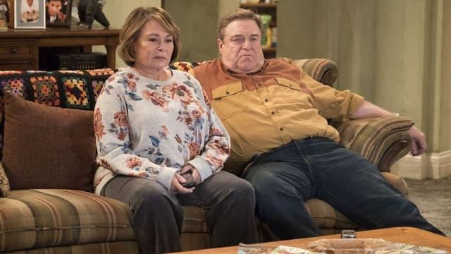 Roseanne Barr et John Goodman dans Roseanne