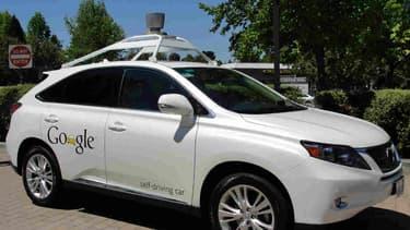 Une voiture sans conducteur de Google a Mountain View, en mai 2014.