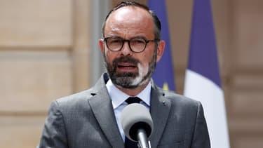 Edouard Philippe lors d'un point presse à Matignon, le 22 mai 2020