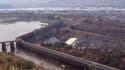 Une vue du barrage Inga I, l'un des deux barrages déjà en service sur le fleuve Congo avec Inga II. Le projet Grand Inga est, comme son nom le suggère, beaucoup plus imposant.