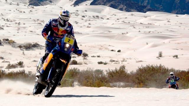 Cyril Despres (KTM), leader chez les motos après une semaine de course