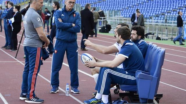 Guy Novès et ses joueurs avant Italie-France