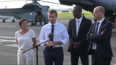 Emmanuel Macron en Guadeloupe avant son départ pour Saint-Martin et Saint-Barthélémy.