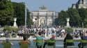 Le jardin des Tuileries à Paris, le 18 juin 2014