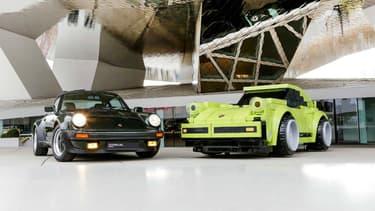 Cette Porsche 911 (930) Turbo 3.0 a été entièrement réalisée en Légo à taille réelle, pour le 70e anniversaire de la marque.
