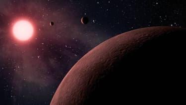 Vue d'artiste d'une exoplanète. (Photo d'illustration)