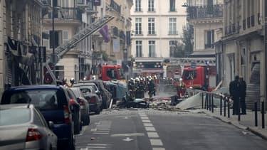 La rue de Trévise le 12 janvier 2019