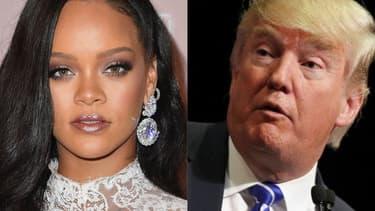 Rihanna et Donald Trump