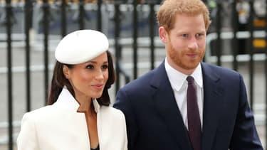 Meghan Markle et le prince Harry à Londres, le 12 mars 2018