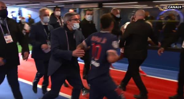 Neymar et Djalo, à Paris le 3 avril 2021