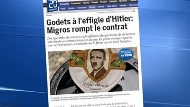Des dosettes de crème à l'effigie d'Hitler suscitent la polémique en Suisse.