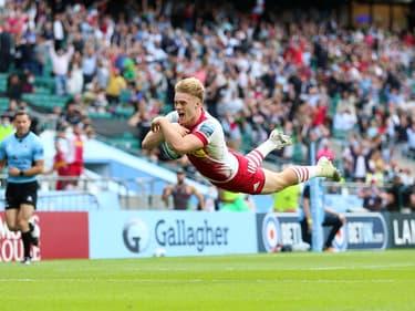 Louis Lynagh a signé un doublé en finale de Premiership contre Exeter.