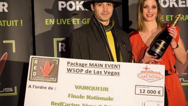Aubin Bellue, vainqueur de la grande finale RedCactus (3ème édition)