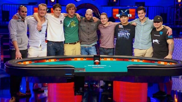 Les 9 finalistes du Main Event des WSOP 2013.
