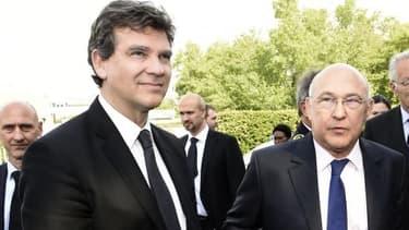 Arnaud Montebourg et Michel Sapin étaient en déplacement dans la région de Lyon.
