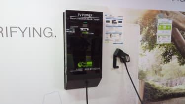 """Une borne de recharge rapide à Hong Kong avec un """"coeur IES"""", installé par EV Power, un installateur de bornes chinois"""