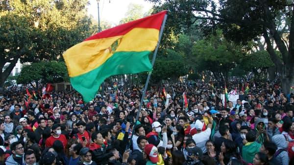 Manifestation contre les résultats de l'élection présidentielle à Sucre, en Bolivie, le 22 octobre 2019