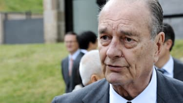 L'ancien président français, Jacques Chirac, à Sarran, le 11 juin 2011