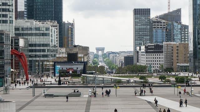 Vue de l'esplanade de La Défense