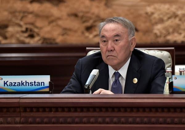 L'ancien président kazakh Noursoultan Nazarbaïev, à Pékin le 27 avril 2019