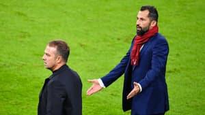 Hans-Dieter Flick et Hasan Salihamidzic lors d'un match du Bayern