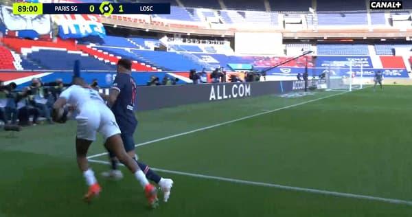 Neymar et Djalo lors de PSG-Lille