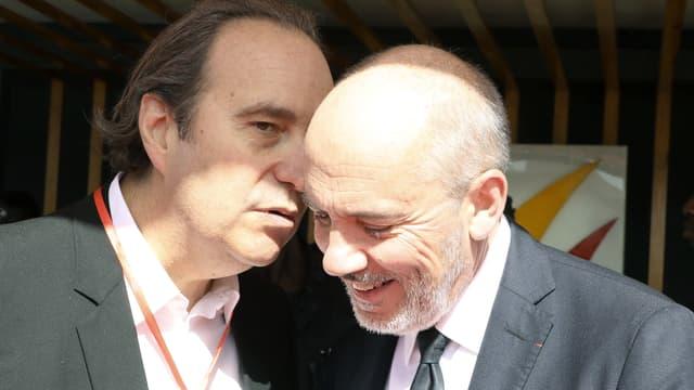 Xavier Niel, fondateur de Free et Stéphane Richard, le PDG d'Orange.