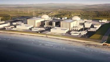 Une image de synthèse de la centrale nucléaire