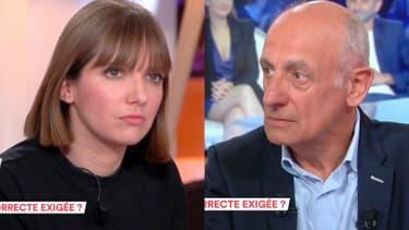 """Aurore Bergé et Jean-Michel Aphatie dans """"C à vous"""""""