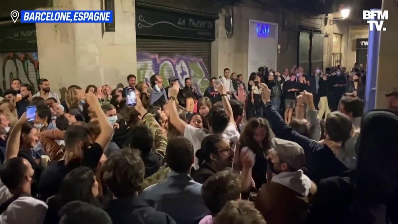 À Barcelone, plusieurs milliers de personnes se sont réunies pour faire la fête