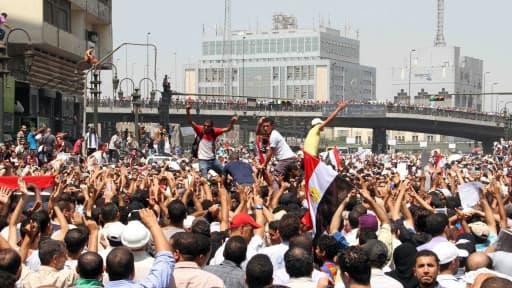 529 partisans du président islamiste déchu Mohamed Morsi, ici lors des manifestations de l'été dernier, ont été condamnés à mort.
