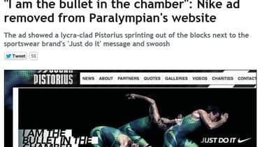 """La publicité Nike avec Oscra Pistorius a été retirée jeudi selon le """"Mirror"""""""