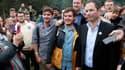 """Benoît Hamon lors du lancement de son """"mouvement du 1er juillet"""""""
