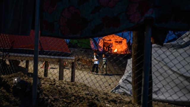 Des enfants dans le camp de Samos en Grèce en novembre dernier.