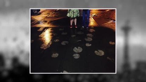 A Seattle, des tags qui n'apparaissent que sous la pluie